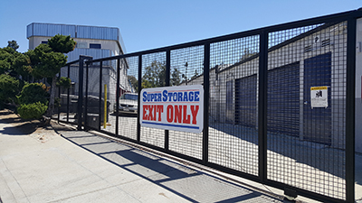 SuperStorage San Diego  | Self Storage in San Diego, CA 92105  - SuperStorage San Diego front gate